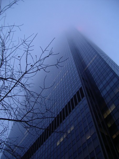 Fog-and-building